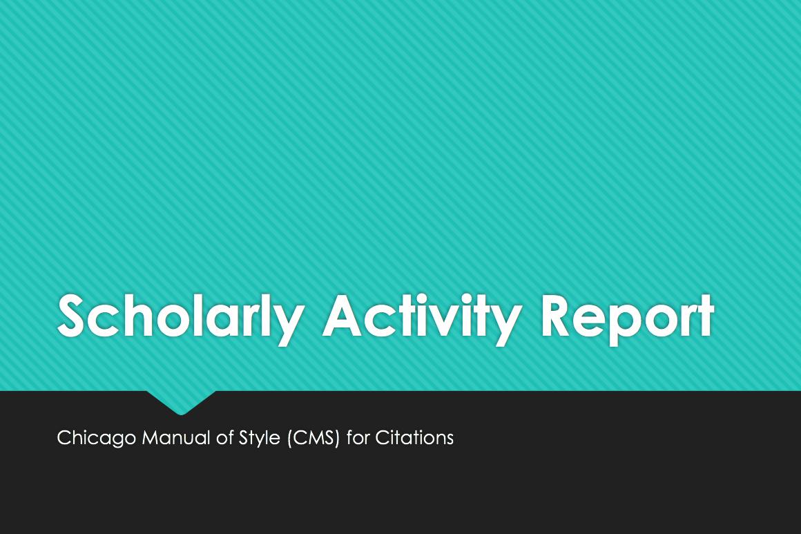 Scholarly Activity Book