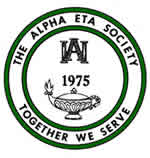The Alpha Eta Society logo