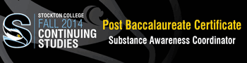 Post Baccalaureate Certificate - Substance Awareness Coordinator