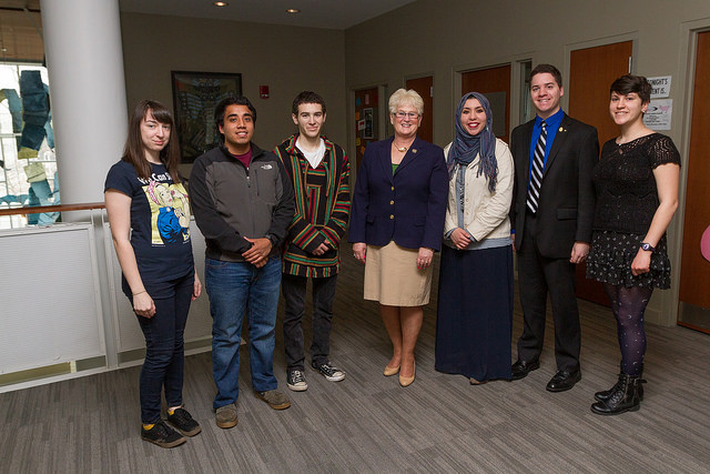 DiAnne C. Gove with students